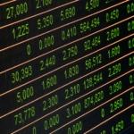 株価チャートの写真