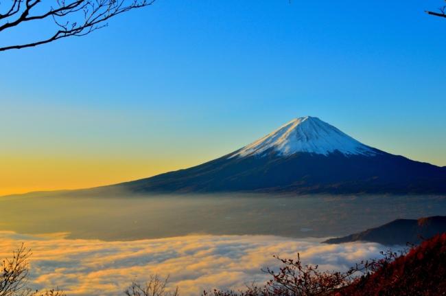 富士山の風景の写真